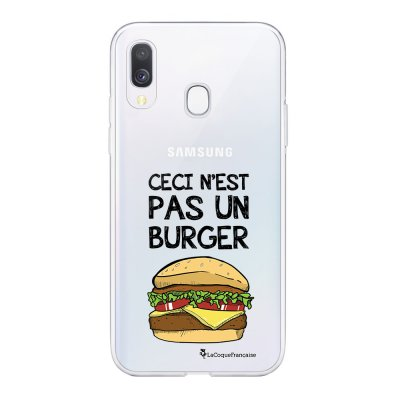 Coque Samsung Galaxy A20e 360 intégrale transparente Ceci n'est pas un Burger Ecriture Tendance Design La Coque Francaise