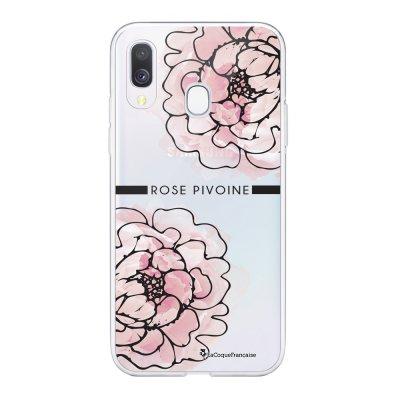 Coque Samsung Galaxy A20e 360 intégrale transparente Rose Pivoine Ecriture Tendance Design La Coque Francaise