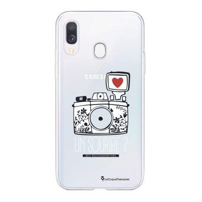 Coque Samsung Galaxy A20e 360 intégrale transparente Un sourire Ecriture Tendance Design La Coque Francaise