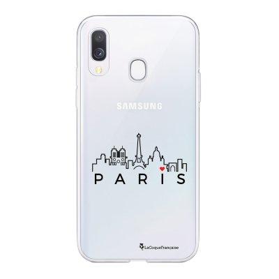 Coque Samsung Galaxy A20e 360 intégrale transparente Skyline Paris Ecriture Tendance Design La Coque Francaise
