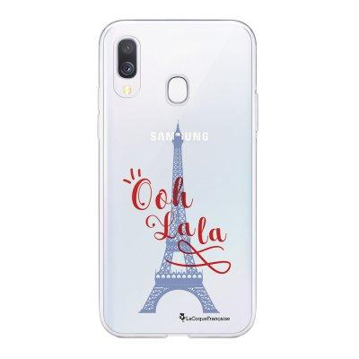 Coque Samsung Galaxy A20e 360 intégrale transparente Tour Eiffel Oh La La Ecriture Tendance Design La Coque Francaise