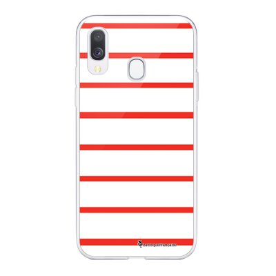 Coque Samsung Galaxy A20e 360 intégrale transparente Marinière Rouge Ecriture Tendance Design La Coque Francaise