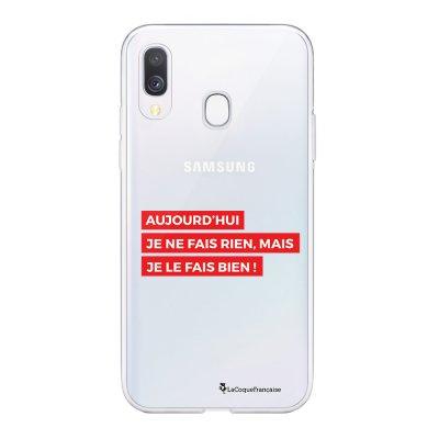 Coque Samsung Galaxy A20e 360 intégrale transparente Aujourd'hui rouge Ecriture Tendance Design La Coque Francaise