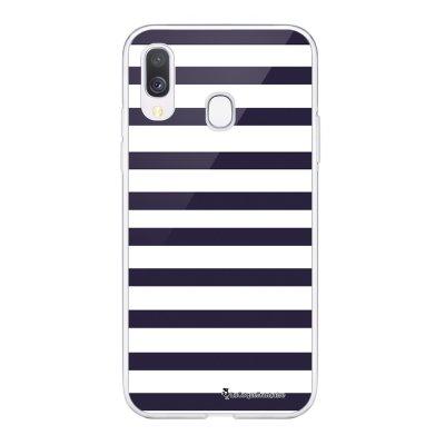 Coque Samsung Galaxy A20e 360 intégrale transparente Marinière Bleue Ecriture Tendance Design La Coque Francaise