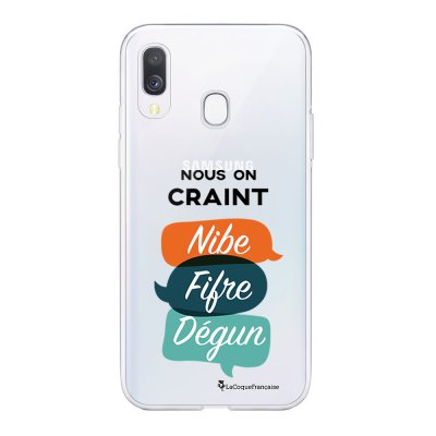 Coque Samsung Galaxy A20e 360 intégrale transparente On craint dégun Ecriture Tendance Design La Coque Francaise