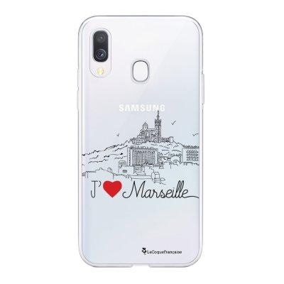 Coque Samsung Galaxy A20e 360 intégrale transparente J'aime Marseille Ecriture Tendance Design La Coque Francaise