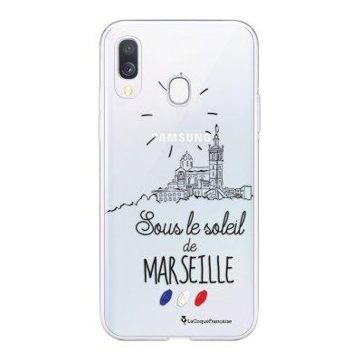 Coque Samsung Galaxy A20e 360 intégrale transparente Sous le soleil de Marseille Ecriture Tendance Design La Coque Francaise