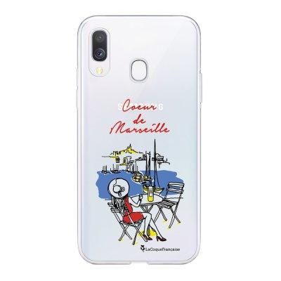Coque Samsung Galaxy A20e 360 intégrale transparente Coeur de Marseille Ecriture Tendance Design La Coque Francaise