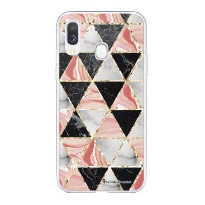 Coque Samsung Galaxy A20e 360 intégrale transparente Triangles marbre Ecriture Tendance Design La Coque Francaise