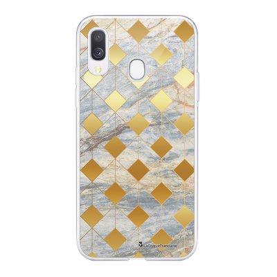 Coque Samsung Galaxy A20e 360 intégrale transparente Marbre Losange Ecriture Tendance Design La Coque Francaise