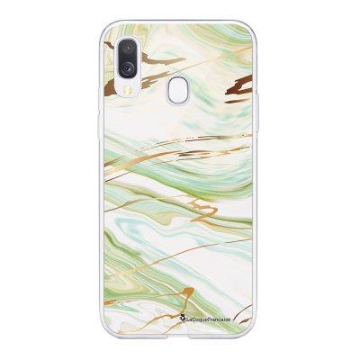 Coque Samsung Galaxy A20e 360 intégrale transparente Marbre Vert Ecriture Tendance Design La Coque Francaise