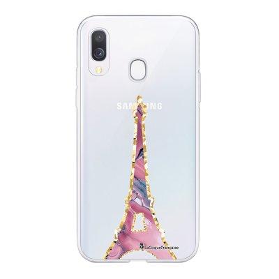 Coque Samsung Galaxy A20e 360 intégrale transparente Tour Eiffel Pierre Rose Ecriture Tendance Design La Coque Francaise