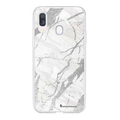 Coque Samsung Galaxy A20e 360 intégrale transparente Marbre gris Ecriture Tendance Design La Coque Francaise