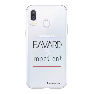 Coque Samsung Galaxy A20e 360 intégrale transparente Bavard et impatient Ecriture Tendance Design La Coque Francaise