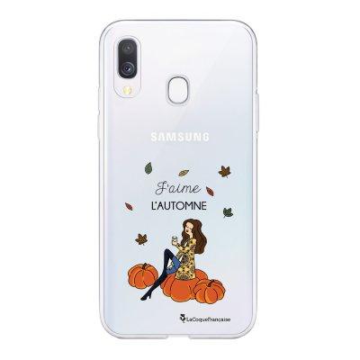 Coque Samsung Galaxy A20e 360 intégrale transparente J'aime l'automne Ecriture Tendance Design La Coque Francaise