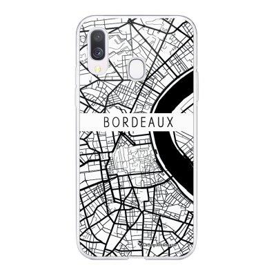 Coque Samsung Galaxy A20e 360 intégrale transparente Carte de Bordeaux Ecriture Tendance Design La Coque Francaise