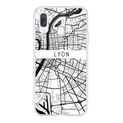 Coque Samsung Galaxy A20e 360 intégrale transparente Carte de Lyon Ecriture Tendance Design La Coque Francaise