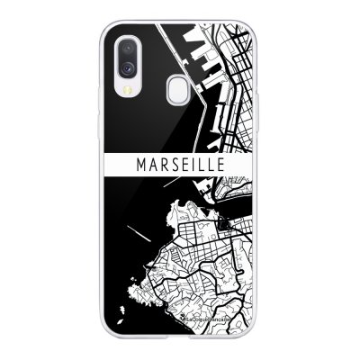 Coque Samsung Galaxy A20e 360 intégrale transparente Carte de Marseille Ecriture Tendance Design La Coque Francaise