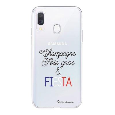 Coque Samsung Galaxy A20e 360 intégrale transparente Champ et Fiesta Blanc Ecriture Tendance Design La Coque Francaise