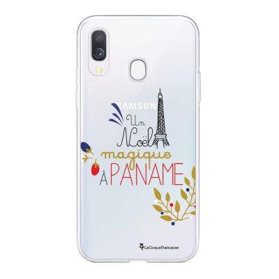 Coque Samsung Galaxy A20e 360 intégrale transparente Un Noël magique à Paname Ecriture Tendance Design La Coque Francaise