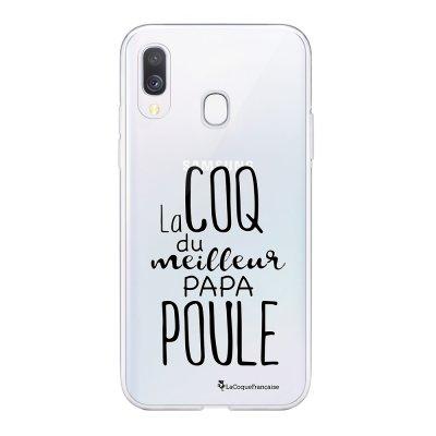 Coque Samsung Galaxy A20e 360 intégrale transparente Meilleur papa poule Ecriture Tendance Design La Coque Francaise