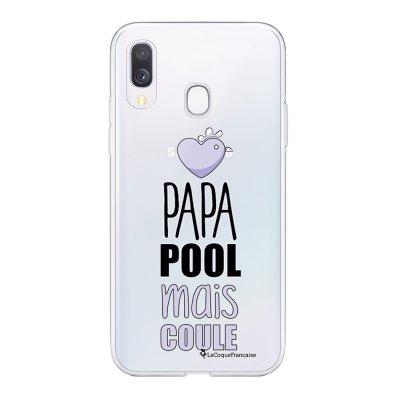 Coque Samsung Galaxy A20e 360 intégrale transparente Papa pool coule Ecriture Tendance Design La Coque Francaise