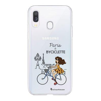 Coque Samsung Galaxy A20e 360 intégrale transparente Paris à Bicyclette Ecriture Tendance Design La Coque Francaise