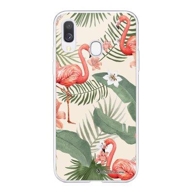 Coque Samsung Galaxy A20e 360 intégrale transparente Flamants Rose Ecriture Tendance Design La Coque Francaise