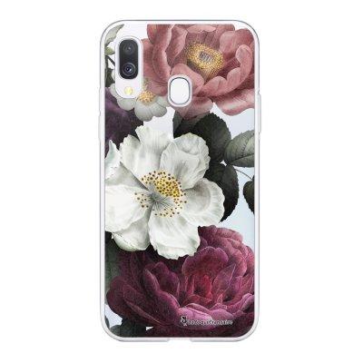 Coque Samsung Galaxy A20e 360 intégrale transparente Fleurs roses Ecriture Tendance Design La Coque Francaise
