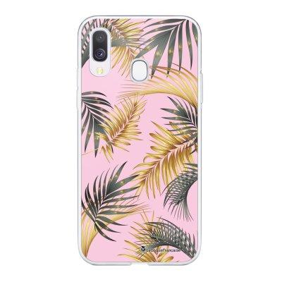 Coque Samsung Galaxy A20e 360 intégrale transparente Feuilles de palmier rose Ecriture Tendance Design La Coque Francaise