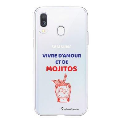 Coque Samsung Galaxy A20e 360 intégrale transparente Vivre D'amour et de Mojitos Ecriture Tendance Design La Coque Francaise
