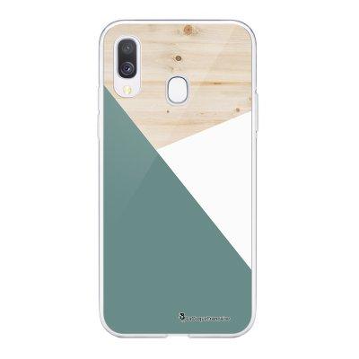 Coque Samsung Galaxy A20e 360 intégrale transparente Trio bois vert Ecriture Tendance Design La Coque Francaise