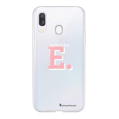 Coque Samsung Galaxy A20e 360 intégrale transparente Initiale E Ecriture Tendance Design La Coque Francaise