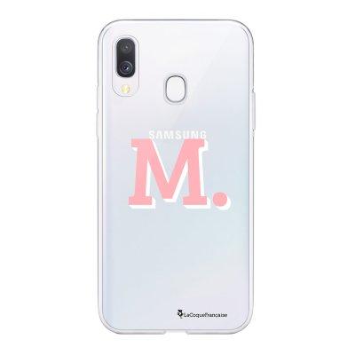 Coque Samsung Galaxy A20e 360 intégrale transparente Initiale M Ecriture Tendance Design La Coque Francaise