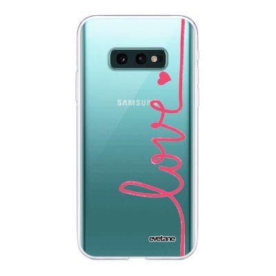 Coque Samsung Galaxy S10e 360 intégrale transparente Love Ecriture Tendance Design Evetane