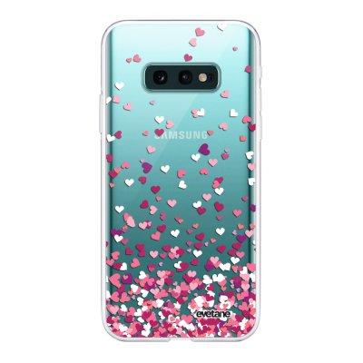 Coque Samsung Galaxy S10e 360 intégrale transparente Confettis De Coeur Ecriture Tendance Design Evetane