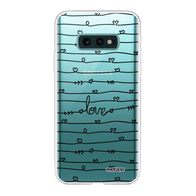 Coque Samsung Galaxy S10e 360 intégrale transparente Love en lignes Ecriture Tendance Design Evetane