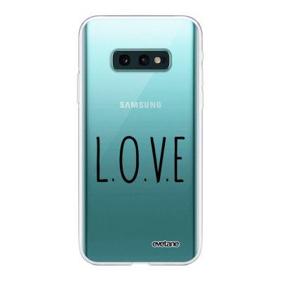 Coque Samsung Galaxy S10e 360 intégrale transparente L.O.V.E Ecriture Tendance Design Evetane