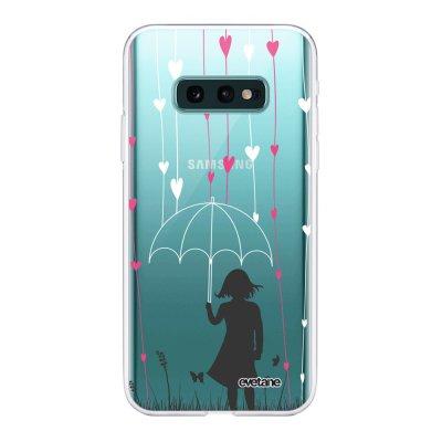 Coque Samsung Galaxy S10e 360 intégrale transparente Pluie de coeurs Ecriture Tendance Design Evetane