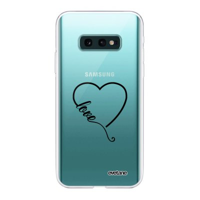 Coque Samsung Galaxy S10e 360 intégrale transparente Coeur love Ecriture Tendance Design Evetane