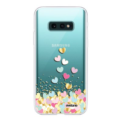 Coque Samsung Galaxy S10e 360 intégrale transparente Coeurs Pastels Ecriture Tendance Design Evetane
