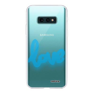 Coque Samsung Galaxy S10e 360 intégrale transparente Love Fluo Ecriture Tendance Design Evetane
