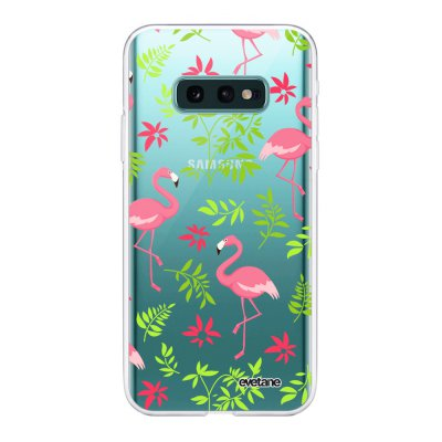 Coque Samsung Galaxy S10e 360 intégrale transparente Flamant Ecriture Tendance Design Evetane