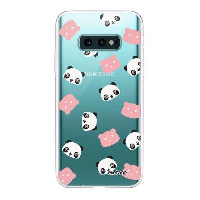 Coque Samsung Galaxy S10e 360 intégrale transparente Tête de Panda Ecriture Tendance Design Evetane