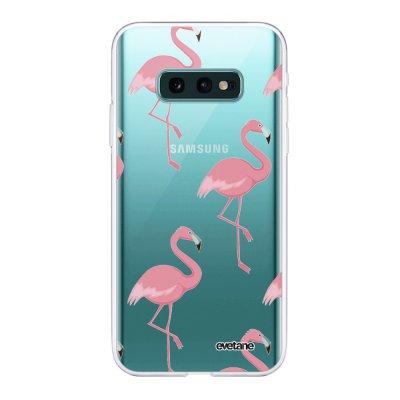 Coque Samsung Galaxy S10e 360 intégrale transparente Flamant Motif Ecriture Tendance Design Evetane