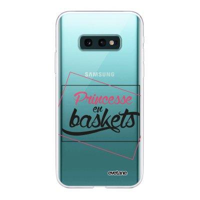 Coque Samsung Galaxy S10e 360 intégrale transparente Princesse En Baskets Ecriture Tendance Design Evetane