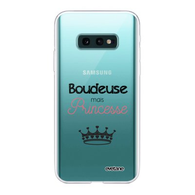 Coque Samsung Galaxy S10e 360 intégrale transparente Boudeuse mais princesse Ecriture Tendance Design Evetane