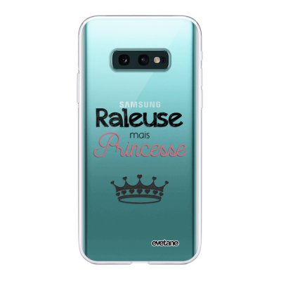 Coque Samsung Galaxy S10e 360 intégrale transparente Raleuse mais princesse Ecriture Tendance Design Evetane