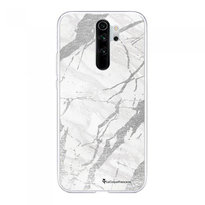 Coque Xiaomi Redmi Note 8 Pro souple transparente Marbre gris Motif Ecriture Tendance La Coque Francaise