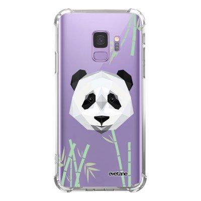Coque Samsung Galaxy S9 anti-choc souple avec angles renforcés transparente Panda Bambou Evetane